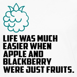 Apples and blueberries funny sayings - Men's Premium Longsleeve Shirt