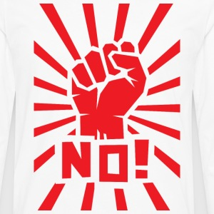 "Red clenched fist with ""NO!"" text. - Men's Premium Longsleeve Shirt"