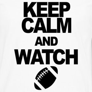 KEEP CALM AND se fotball - Premium langermet T-skjorte for menn