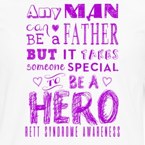 Rett Syndroom Awareness Vader is een Held - Mannen Premium shirt met lange mouwen