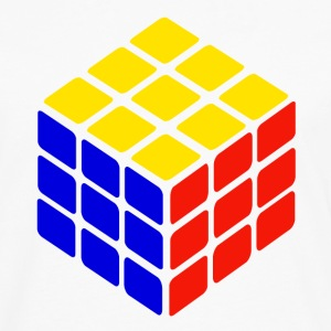 blue yellow red rubik's cube print - Men's Premium Longsleeve Shirt