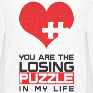 You are the Losing PUZZLE in my LIFE - Männer Premium Langarmshirt