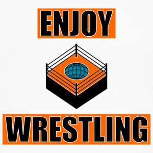 ENJOY_WRESTLING_ORANGE_DesASD - Mannen Premium shirt met lange mouwen