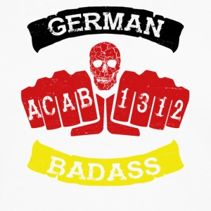 German badass germany football hooligan tattoo - Men's Premium Longsleeve Shirt