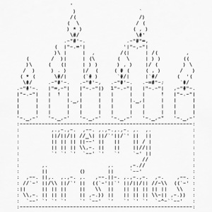 Isle of Candles ASCII - T-shirt manches longues Premium Homme