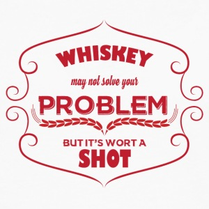 Whiskey - Whiskey may not solve your Problem... - Männer Premium Langarmshirt