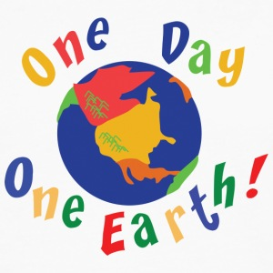 Earth Day One Day One Earth - Långärmad premium-T-shirt herr