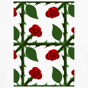 Red Rose Pattern - Premium langermet T-skjorte for menn