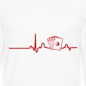 EKG Heart Line Poker, Cards - Men's Premium Longsleeve Shirt