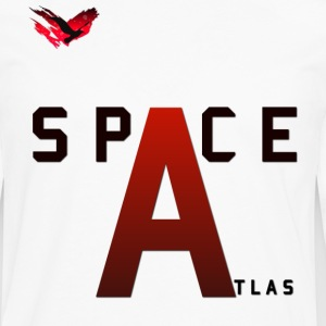 Space Atlas Baseball Long Sleeve Capital A - Men's Premium Longsleeve Shirt