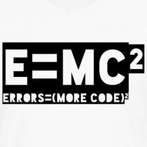 E = mc2 - errors = (more code) 2 - Men's Premium Longsleeve Shirt