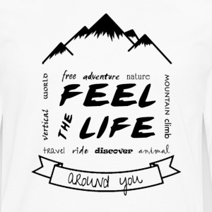 Feel the Life around you - Black - Men's Premium Longsleeve Shirt