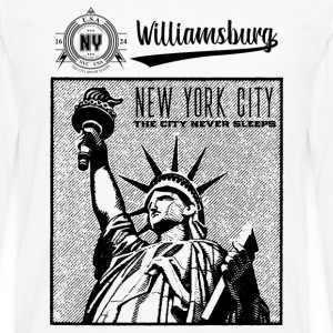 New York City · Williamsburg - Långärmad premium-T-shirt herr