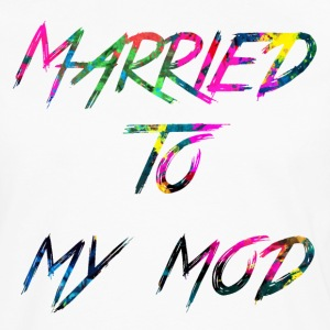 rainbow Married to my mod - Premium langermet T-skjorte for menn