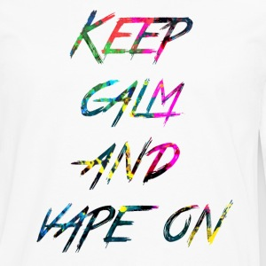 rainbow Keep calm and vape on - Premium langermet T-skjorte for menn