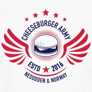 Cheeseburger Army U.S Colors - Premium langermet T-skjorte for menn