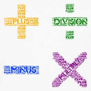 Plus Minus Multiply & Divison - Men's Premium Longsleeve Shirt