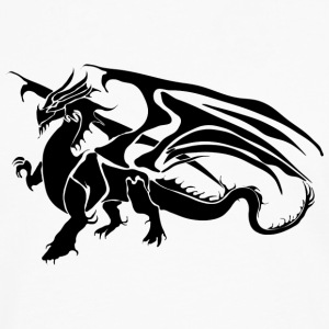 Black Dragon - TribalDragon - Premium langermet T-skjorte for menn
