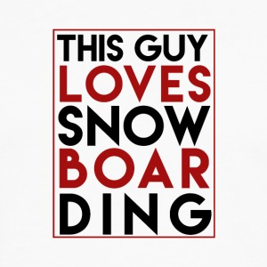 This Guy Loves Snowboarding - Boarder Power - Männer Premium Langarmshirt