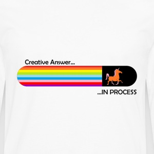 Creative answer is loading Unicorn - Men's Premium Longsleeve Shirt