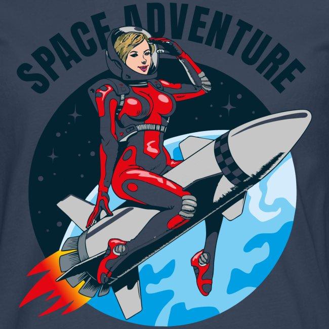 Weltraum-Abenteuer Rakete Mädchen
