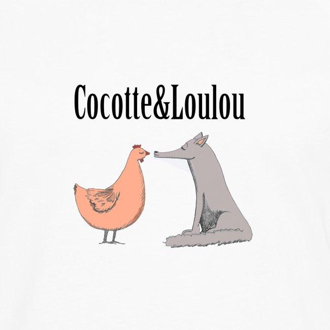 Cocotte et Loulou écriture noire