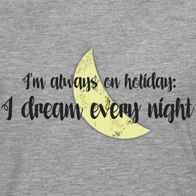 On Holiday With Dreams and Moon - Black & Yellow