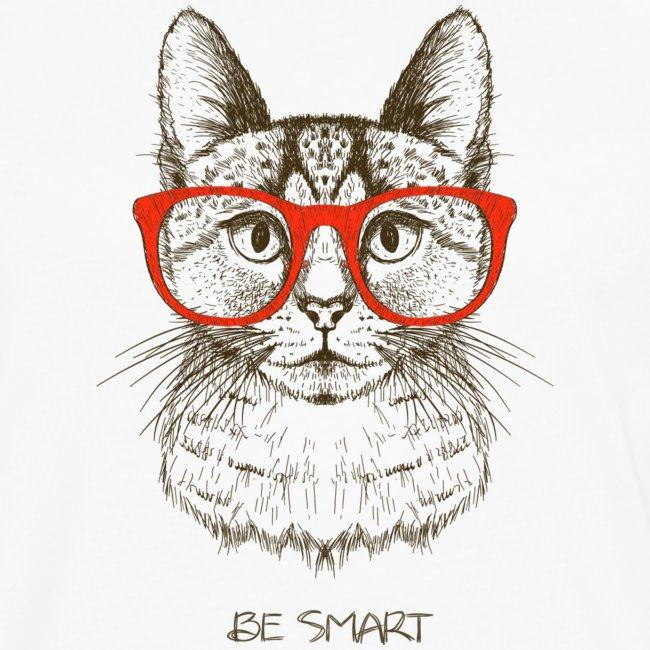 Vorschau: Cat Hipster - Männer Premium Langarmshirt