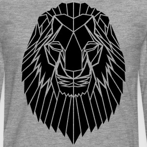 Edgy Geometric safari Lion Print by Stencilize - Men's Premium Longsleeve Shirt