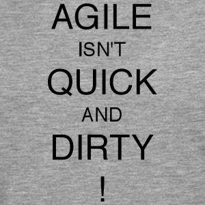 AGILE IS NIET quick and dirty! - Mannen Premium shirt met lange mouwen