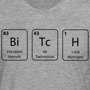 Bitch nerdy periodic table element - Men's Premium Longsleeve Shirt