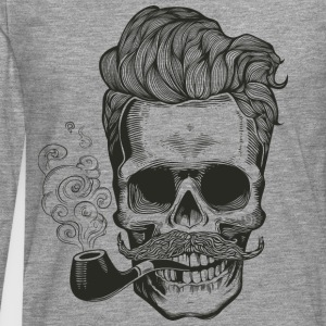 skull_pipe - T-shirt manches longues Premium Homme