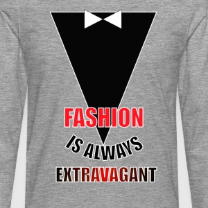 FASHION-is-always-EXTRAVAGANT - Camiseta de manga larga premium hombre