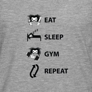 Eat Sleep Repeat Gym - Männer Premium Langarmshirt