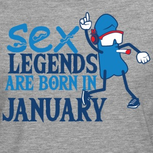 Bursdag januar penis Sex Legends - Premium langermet T-skjorte for menn