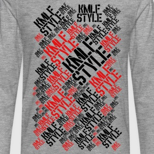 KMLF STYLE graphisme LONG red 2 - T-shirt manches longues Premium Homme