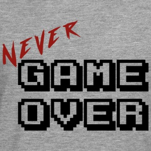 Never game over transparent - T-shirt manches longues Premium Homme