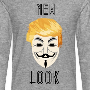 New Look Transparent /Anonymous Trump - Maglietta Premium a manica lunga da uomo