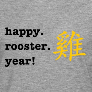 happy rooster year - Men's Premium Longsleeve Shirt