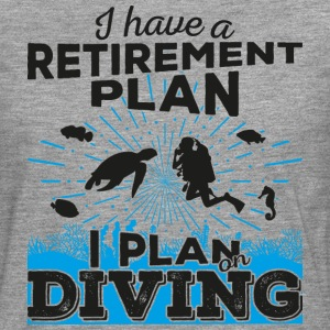 Retirement plan diving (dark) - Männer Premium Langarmshirt
