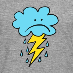 Angry Cloud, flash, raindrop, weather, funny, rain - Men's Premium Longsleeve Shirt