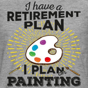 Retirement plan painting (dark) - Men's Premium Longsleeve Shirt