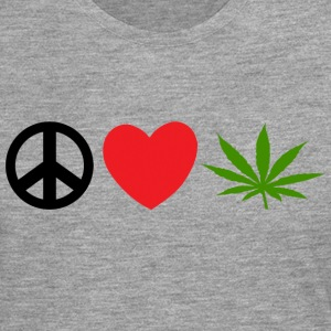 Peace Love Marijuana Cannabis Weed Pot - Men's Premium Longsleeve Shirt