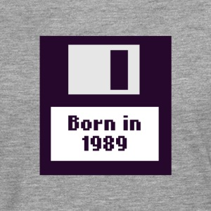 Born in 1989 floppy disk - Men's Premium Longsleeve Shirt