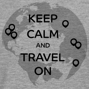 Keep Calm and Travel On - Men's Premium Longsleeve Shirt