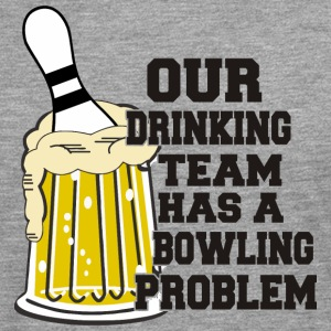 Bowling Vår Drinking Team Has Bowling Problem - Premium langermet T-skjorte for menn