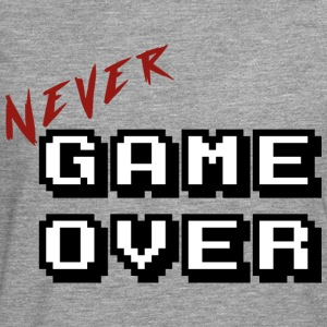 Never game over white - Men's Premium Longsleeve Shirt
