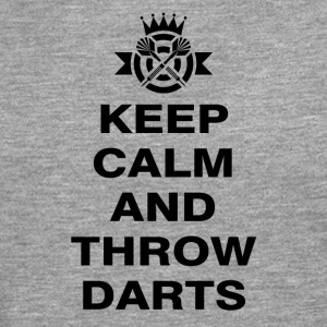 Keep calm and throw darts - Männer Premium Langarmshirt