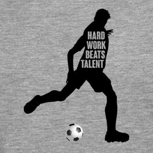 Football: Hard Work Beats Talent - T-shirt manches longues Premium Homme