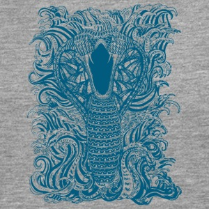Snake-and-Water-in-Blue - Men's Premium Longsleeve Shirt